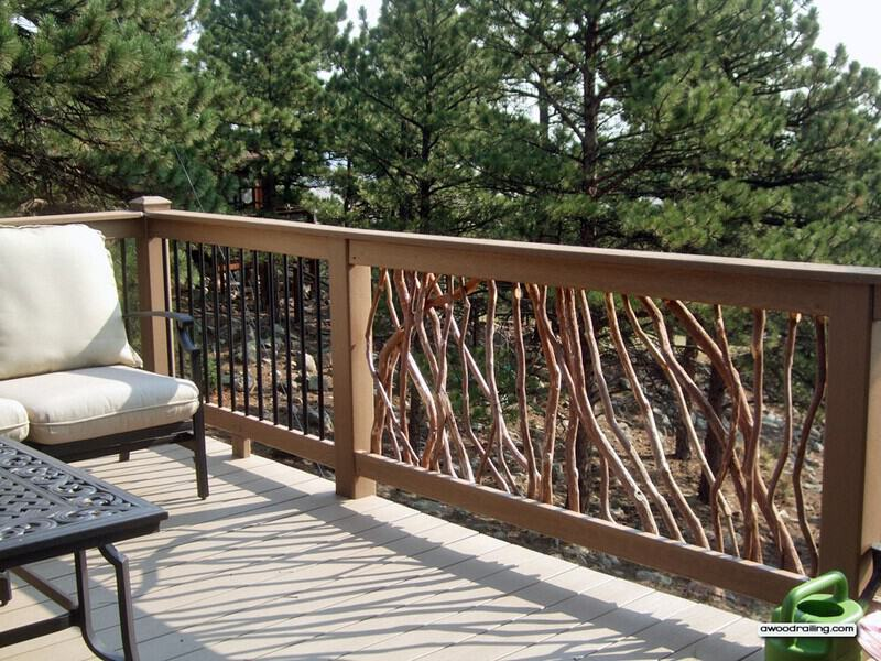 Composite Deck Railing and Deck Furniture
