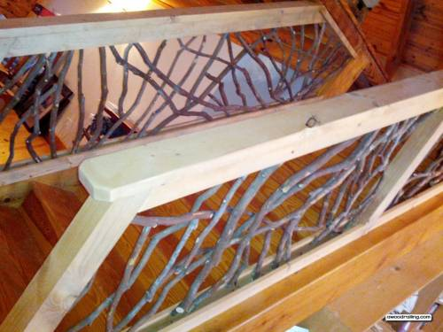 Rustic Stair Railing Interior