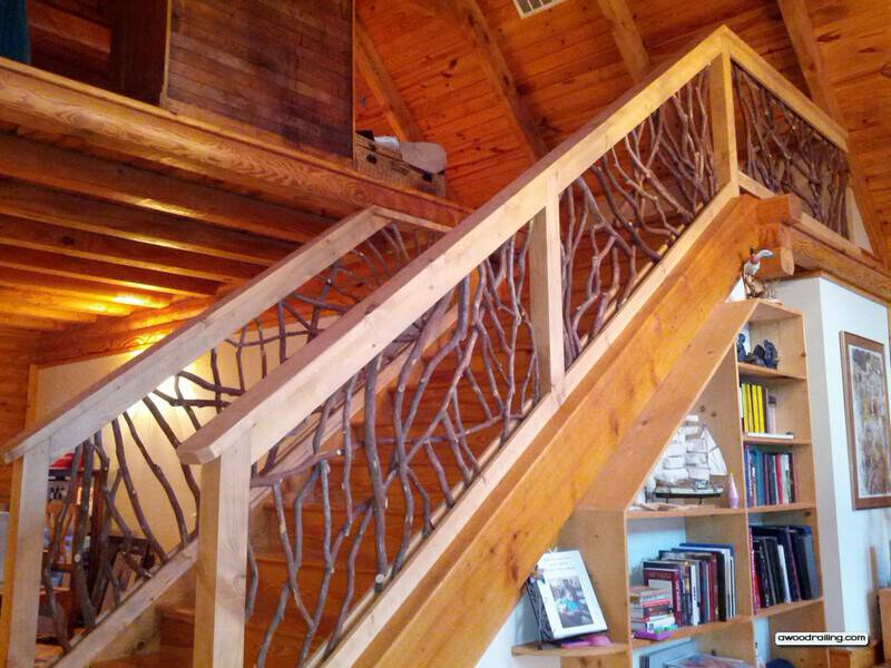 Rustic Staircase Railing