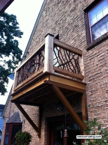 Wood Juliet Balcony