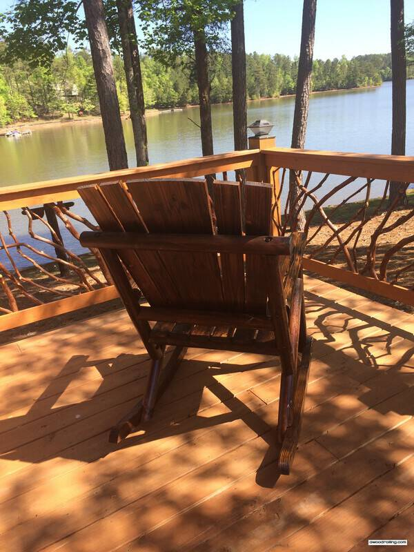 deck chair overlooking lake