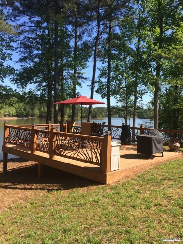 New Deck and Railing Overlooking Lake