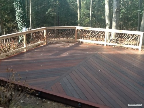 Deck Railing in the Delaware Sun