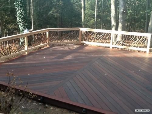 Deck Railing in the Delaware Sun