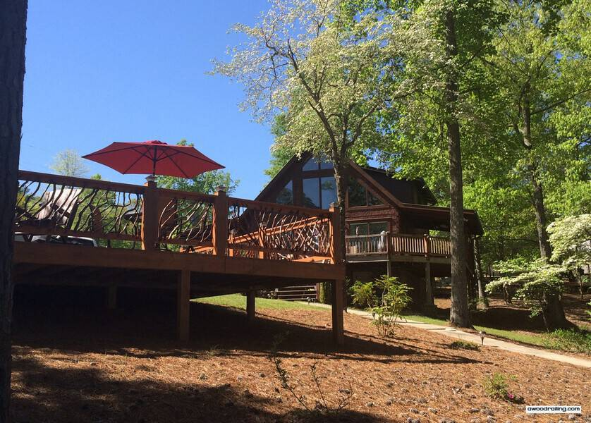 New Deck and Existing Home