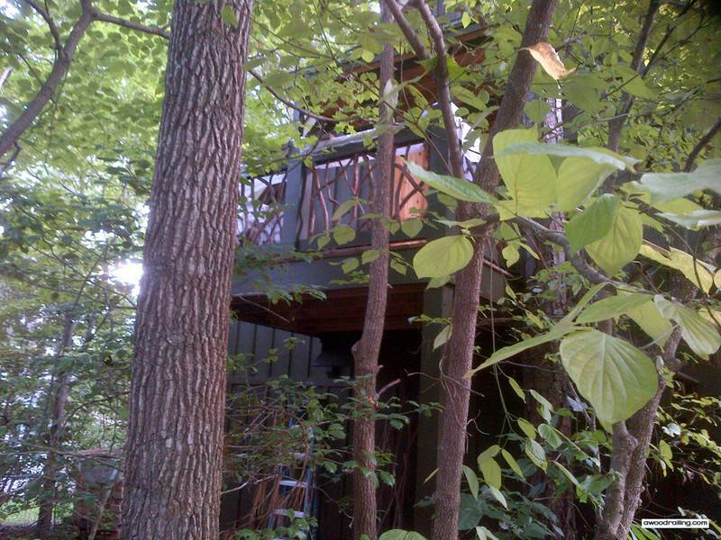 View of the Deck through Trees