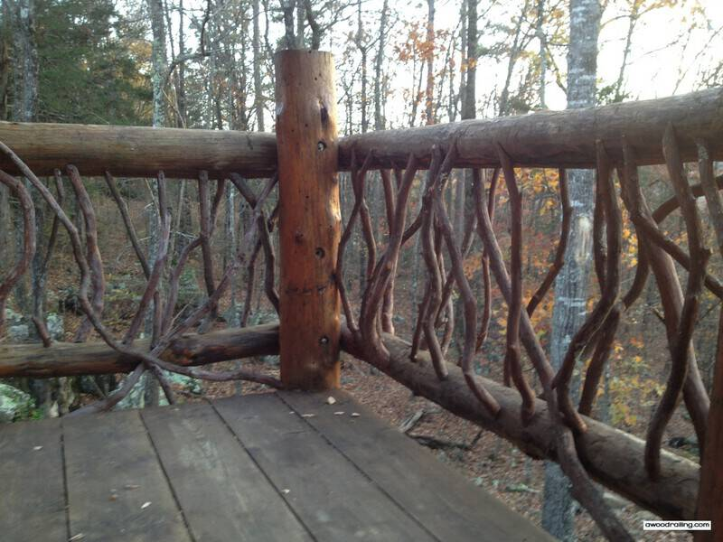 Log Railing Corner Post