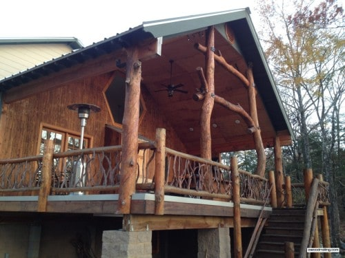 Arkansas Log Home and Branch Railing