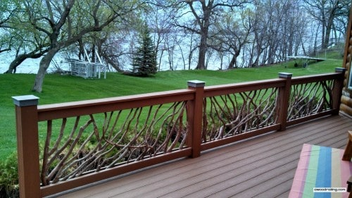 Minnesota Lake Home Deck Railing