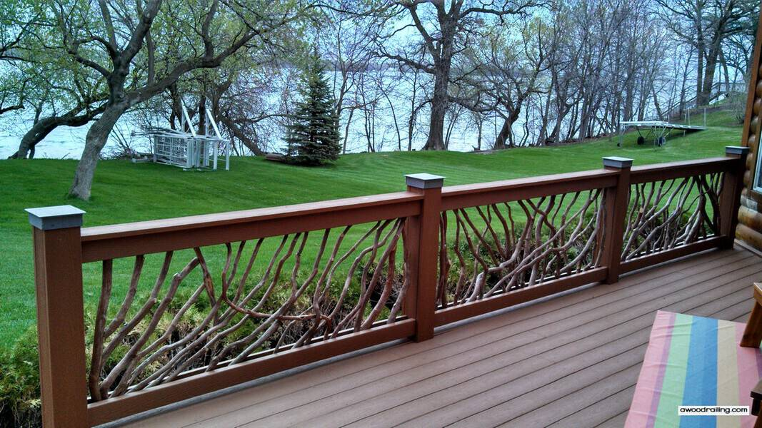 Deck Handrail Railing For Outdoors And Exterior Decks