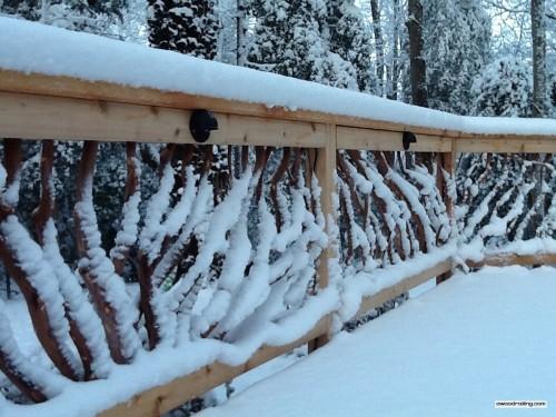 Delaware Snowy Deck Railing