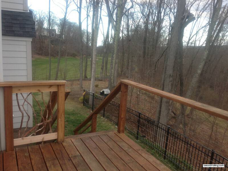 Combination of Deck Railing Materials