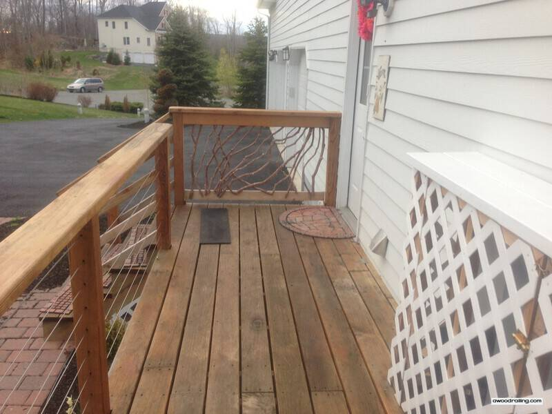 Wood Railing and Cable Railing