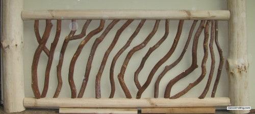 Pine Log Handrail