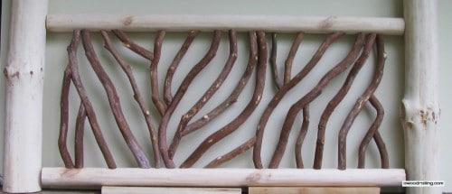 White Pine Log Railing