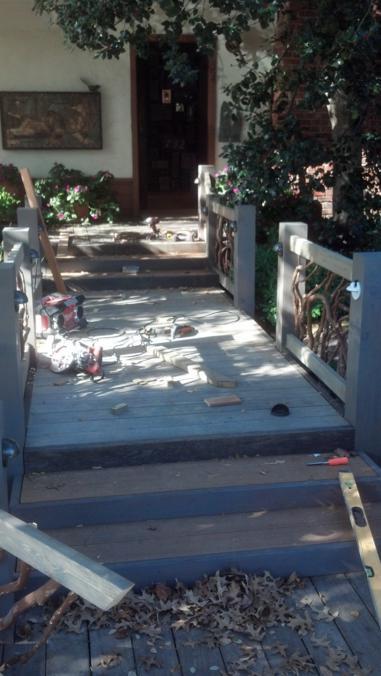 Handrail Installation in Progress