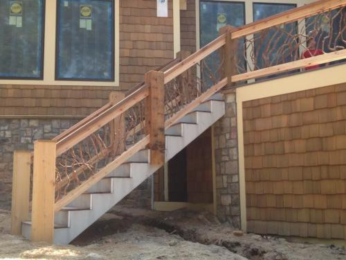 Rustic Stair Railing for Deck