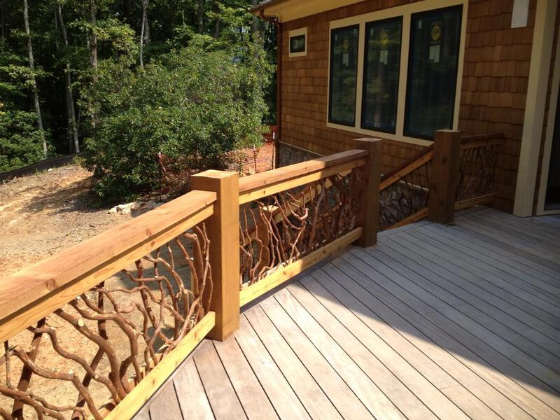 Rustic Railing For The Rustic Home Deck Railing