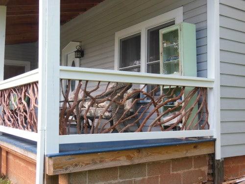 Porch Railing Installed in Cherokee, North Carolina