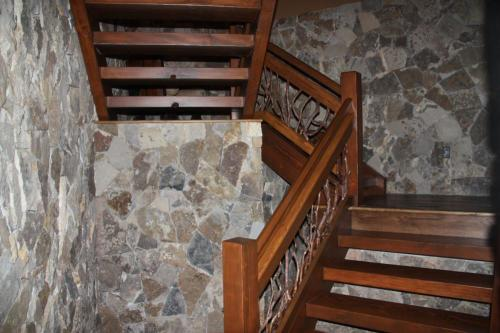 Stair Railing and Stone Staircase
