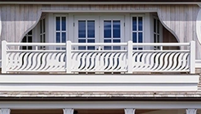 Graceful Arc Beach House Railing