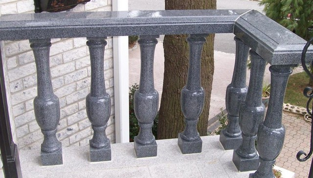 black-marble-baluster-railing