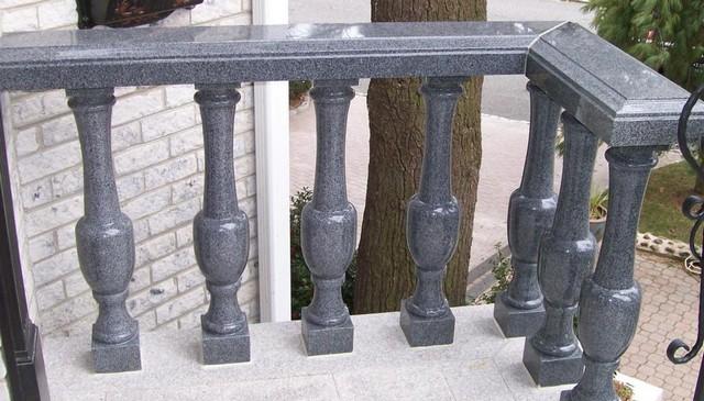 black-marble-baluster-railing