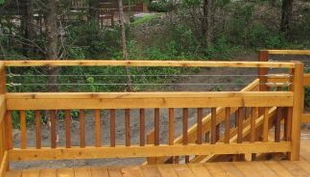 Cable Railing Above Wood 2x2 Railing