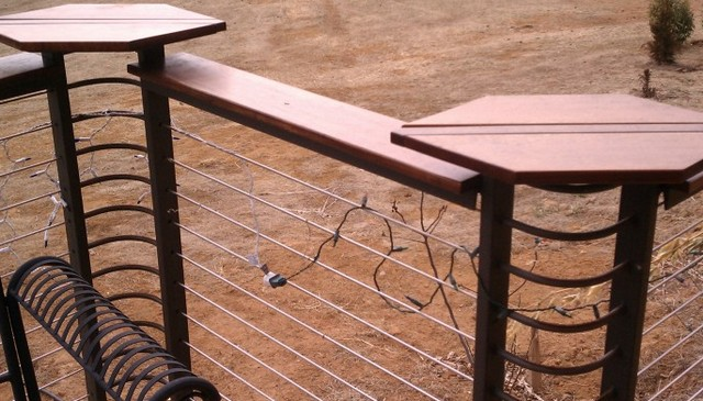 Cable Railing With Formed Corners And Different Height