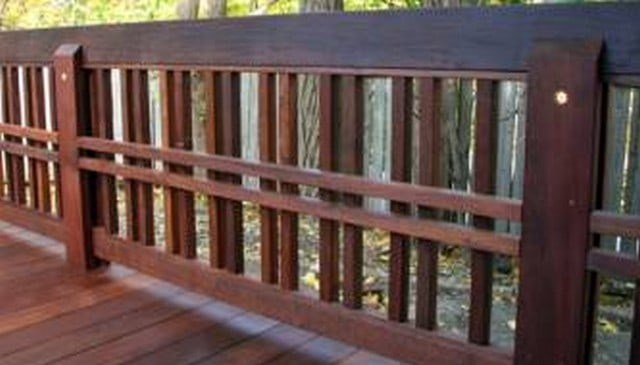 Craftsman Handrail with Double Vertical and Horizontal Elements