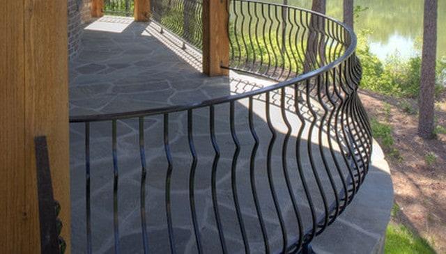 Curved Metal Railing Deck Railing Mountain Laurel