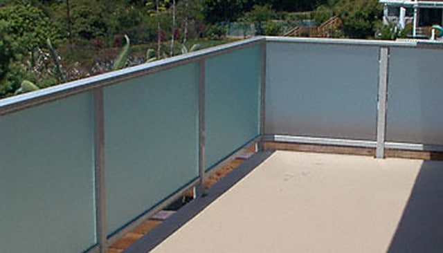 Frosted Glass Patio Handrails
