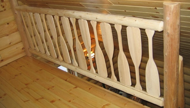 Railing Design With Oars For Paddlers Deck Railing
