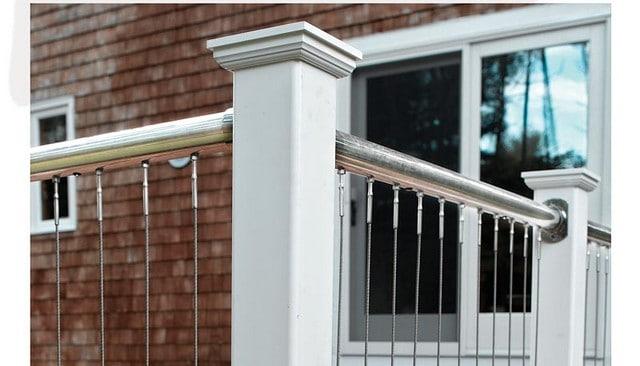 Vertical Cable Railing - Deck Railing | Mountain Laurel Handrails ...