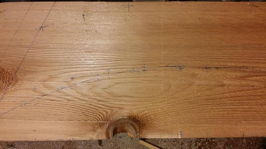 How to Mark Curves on Wood