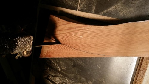 Starting the Bandsaw Cut