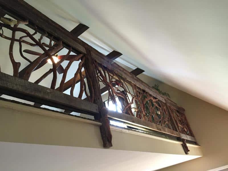 Barnwood Balcony Handrail