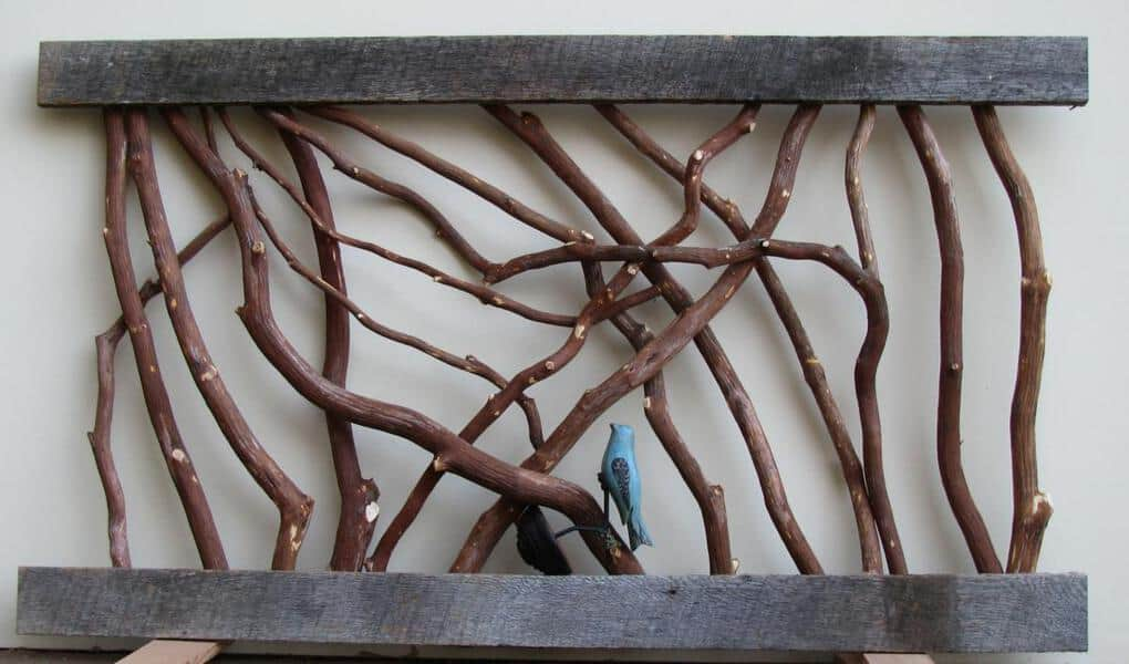 Branch Railing with curved birds