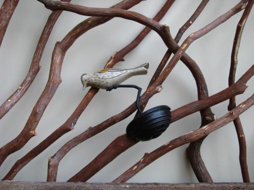Branch Handrail with Bird