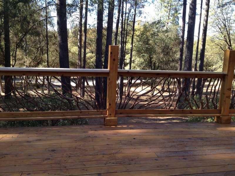 California Rustic Railing Deck Railing Mountain Laurel
