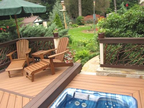 Hot Tub Deck Railing