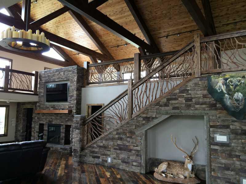 North Dakota Lodge Balcony and Stair Railing