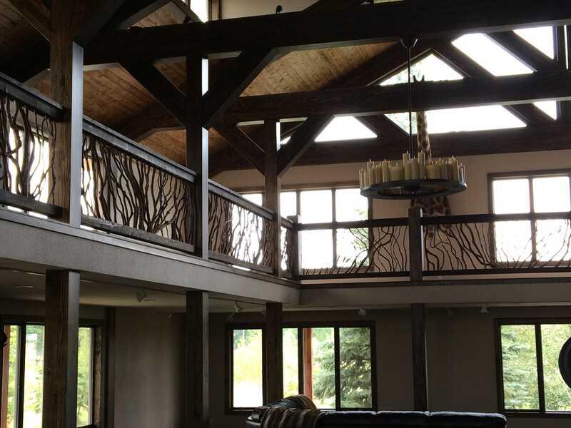 Rustic Balcony Railing