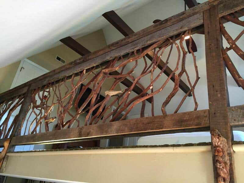 Rustic Barnwood Railing