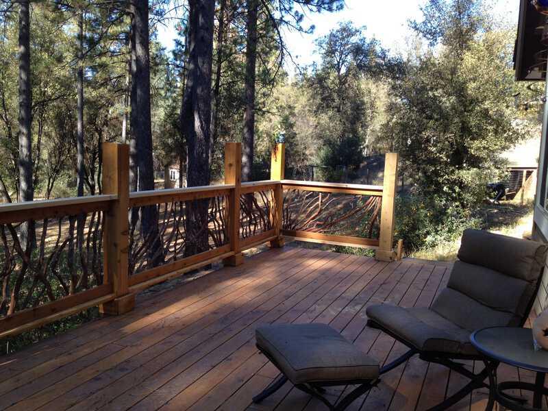 Rustic Branch Handrail California