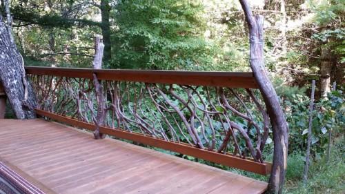 Rustic Branch Newel Posts