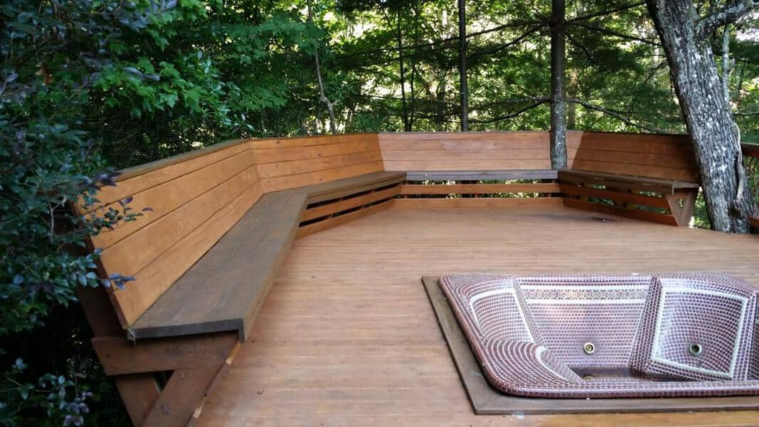 Bench Railing And Deck Bench Plans