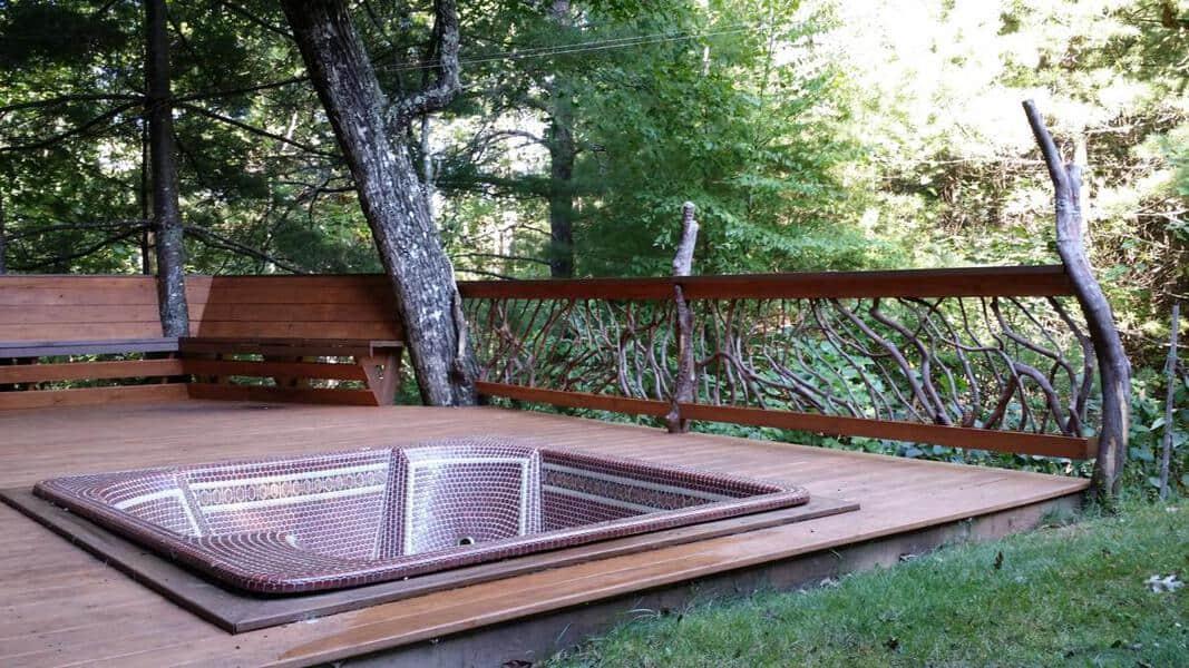 Deck Bench Railing