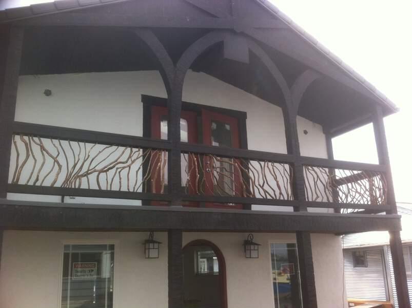 House Boat Timber Frame Handrail balcony-railing