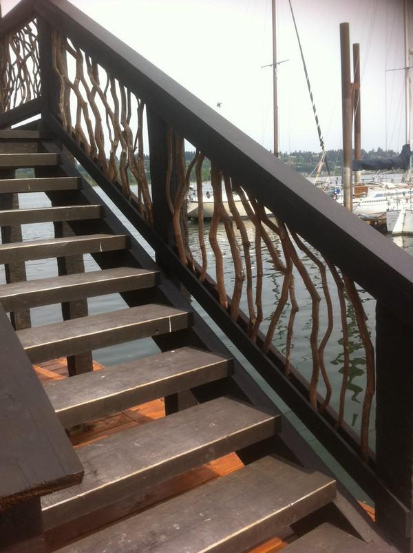 House Boat Timber Frame Railing
